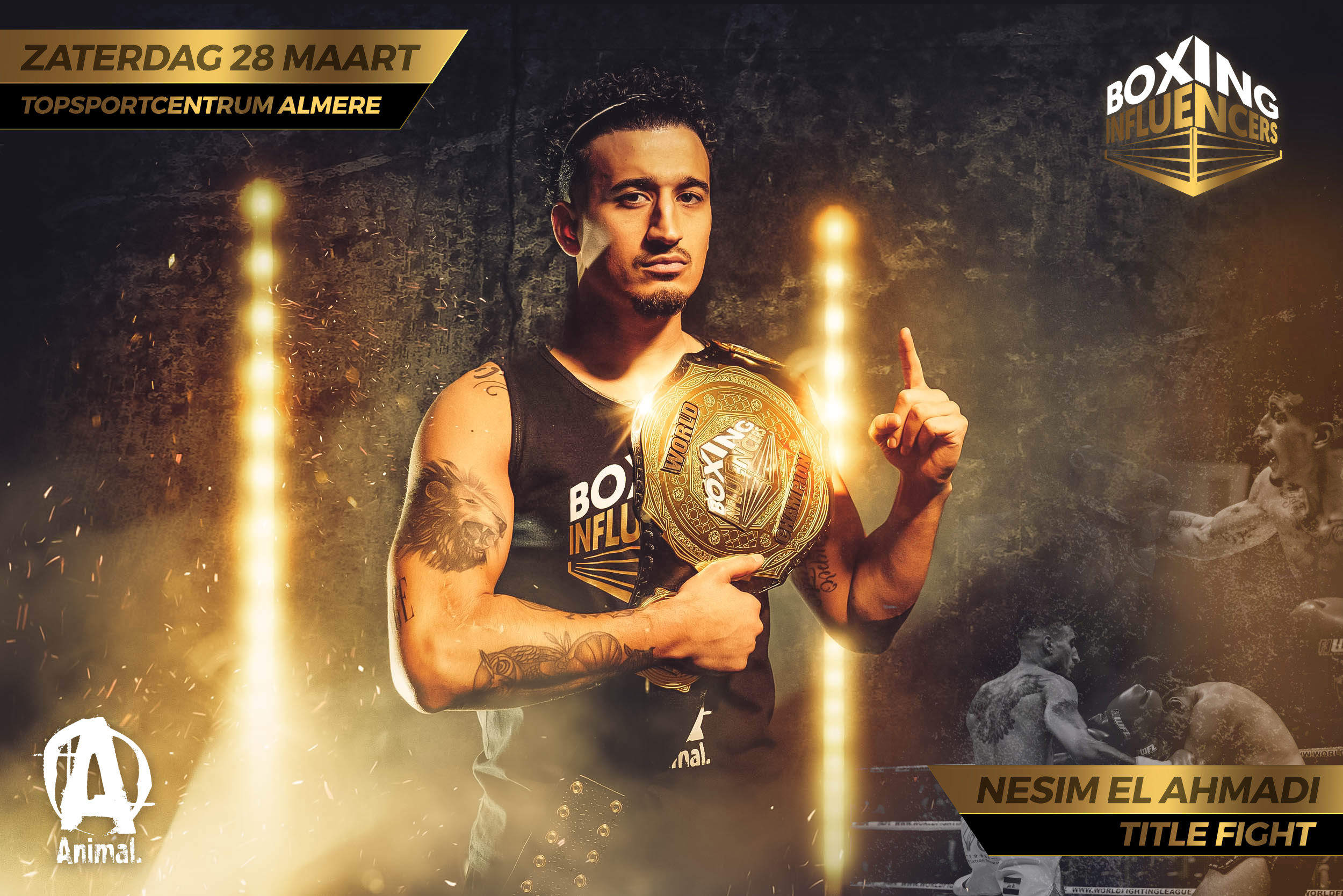 Nesim Najih Boxing Influencers Gold Edition