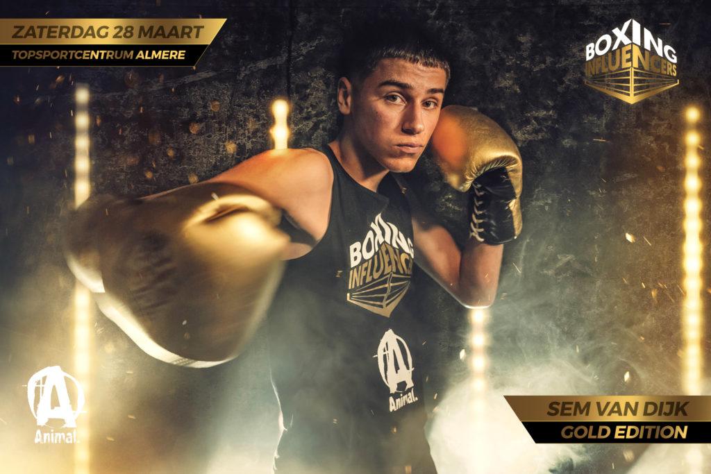 Sem van Dijk Boxing Influencers Gold Edition